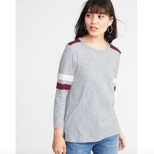Old Navy Relaxed Football-Style Slub Knit Tee